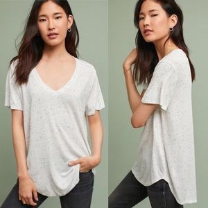 •Cloth & Stone• V Neck Layering Tunic Tee Speckled